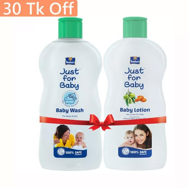 Parachute Just for Baby Baby Lotion 100 ml & Baby Wash 100 ml Combo Offer  (100ml)