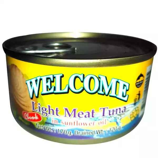 Welcome Light Meat Tuna In Sunflower Oil (Chunk) (170 gm)