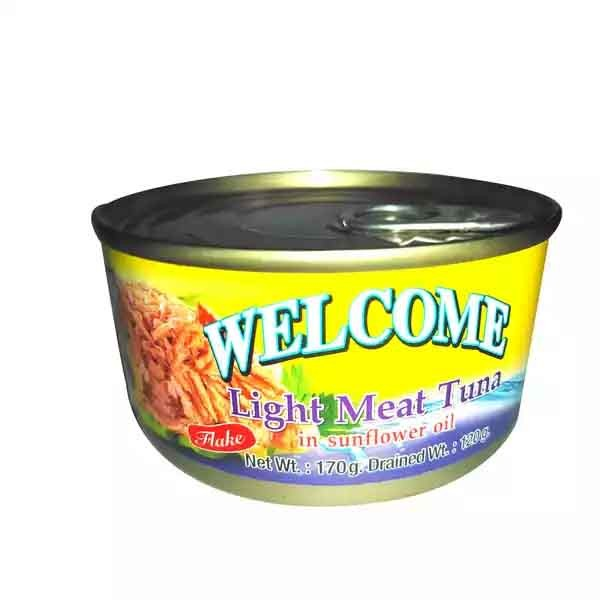 Welcome Light Meat Tuna In Sunflower Oil (Flake) (170 gm)