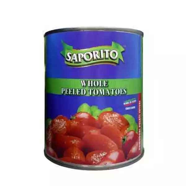 Saporito Whole Peeled Tomato Can (800 gm)
