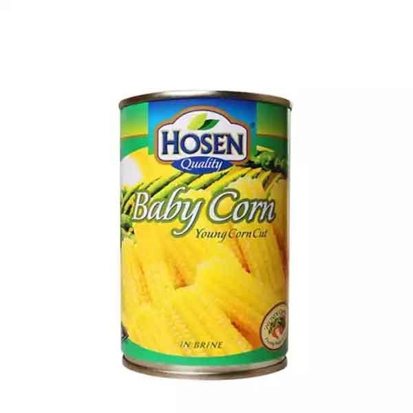 Hosen Baby Corn Young Cut Can (400 gm)