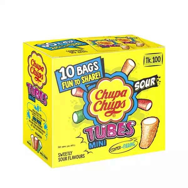 Chupa Chups Tubes Mini Box (10 pcs)