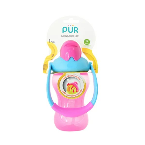 Pur Baby Swinging Straw Cup 18 months+ (R.9007) (1pcs)