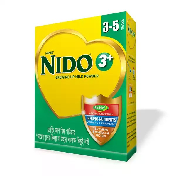 Nestlé NIDO Growing Up Milk Powder 3+ BIB (350gm)
