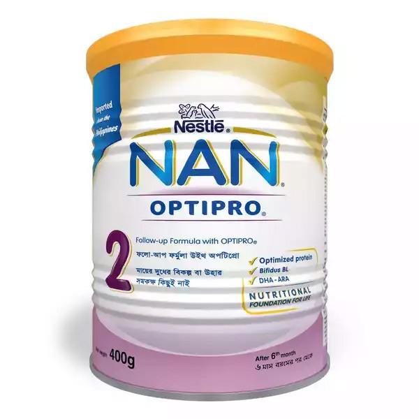 Nestlé NAN 2 Follow Up Formula With Optipro TIN (400gm)