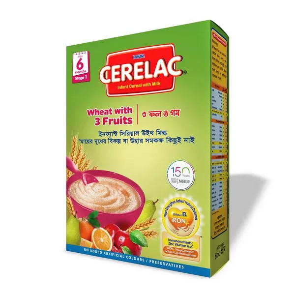Nestlé Cerelac 1 Wheat With 3 Fruits (6 months +) BIB (400gm)