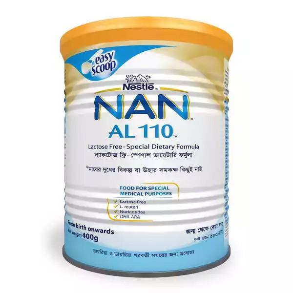 Nestlé NAN AL 110 Lactose Free Special Dietary Formula TIN (400gm)