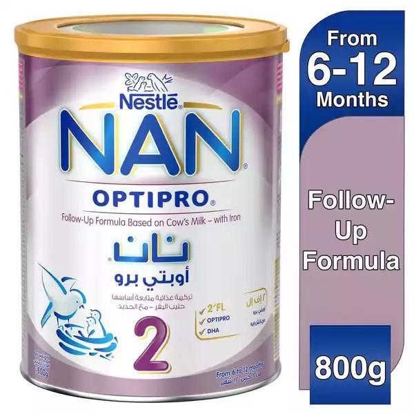 Nestlé NAN 2 OPTIPRO Formula (6 to 12 months) Tin (800gm)