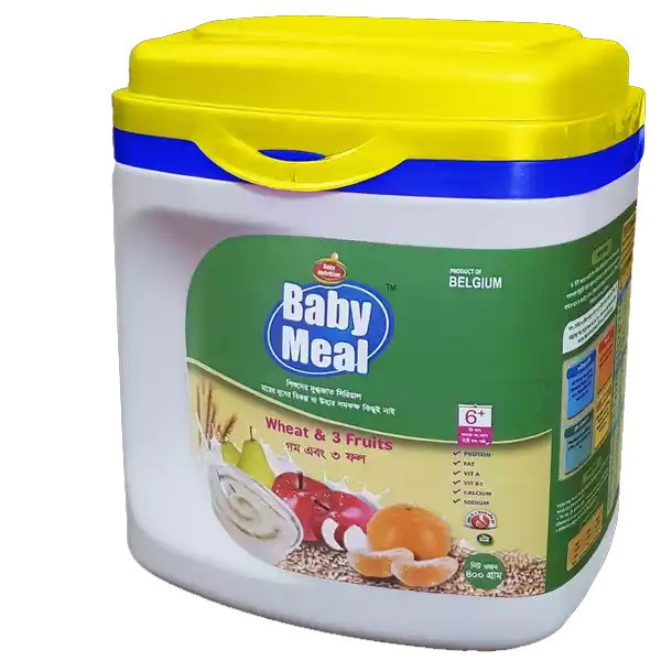 Baby Meal Infant Milk Wheat & 3 Fruits Cereal Jar (6 - 24 Months) (400gm)