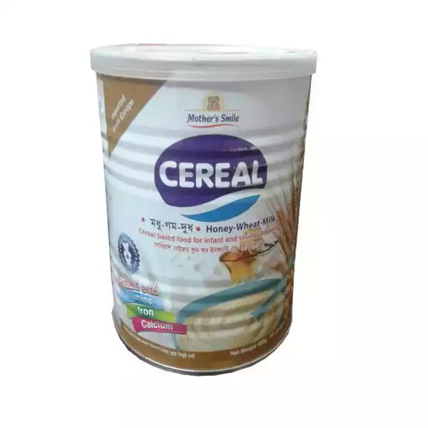Mother's Smile Cereal Honey,Wheat & Milk Tin (400gm)