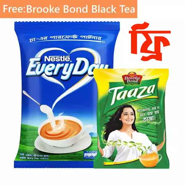 NESTLÉ Everyday Pouch-500gm (Free Brooke Bond Taaza Black Tea 100 gm)