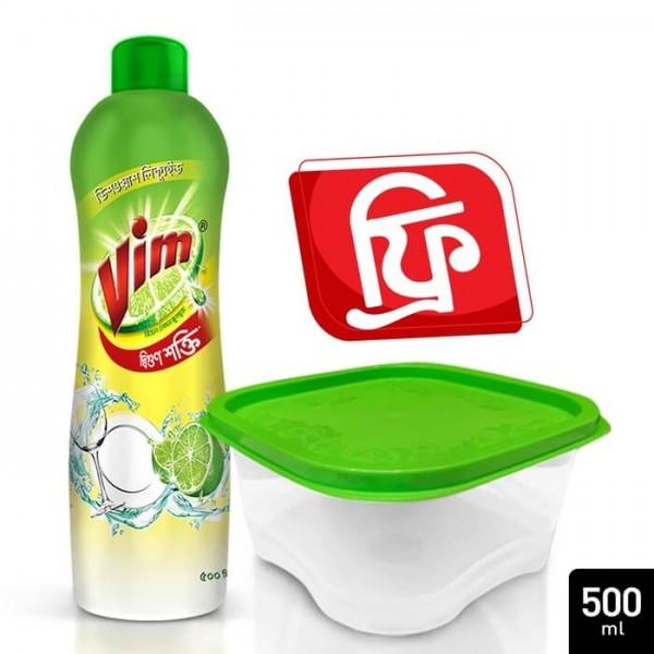 Vim Dishwashing Liquid  500 ml  (Free Container)