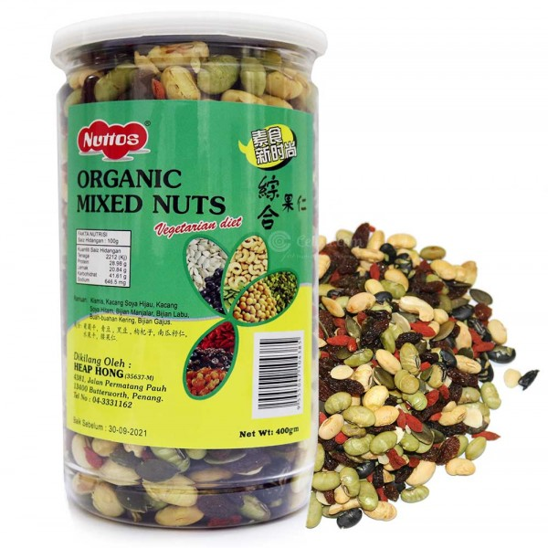 Nuttos Organic Mixed Nuts (400 gm)